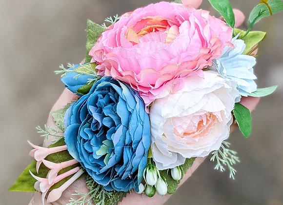 Pink & Blue Hair Flower