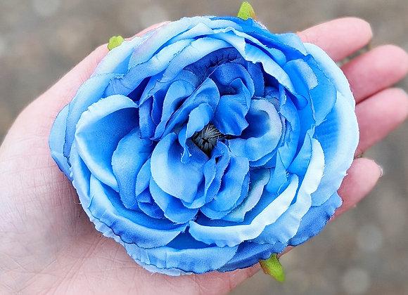 Single Blue Hair Flower