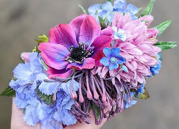 Purple & Blue Hair Flower