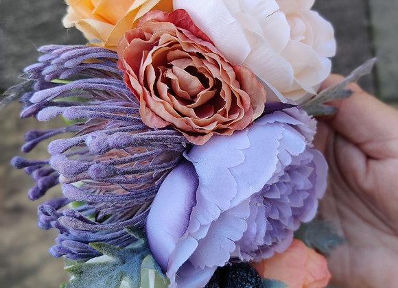 Lavender and peach hairflower