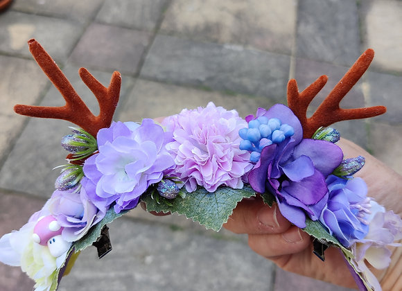 Lilac, mauve antler crown