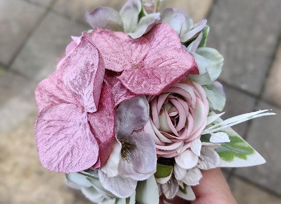 Dusky velvet pink and green flower