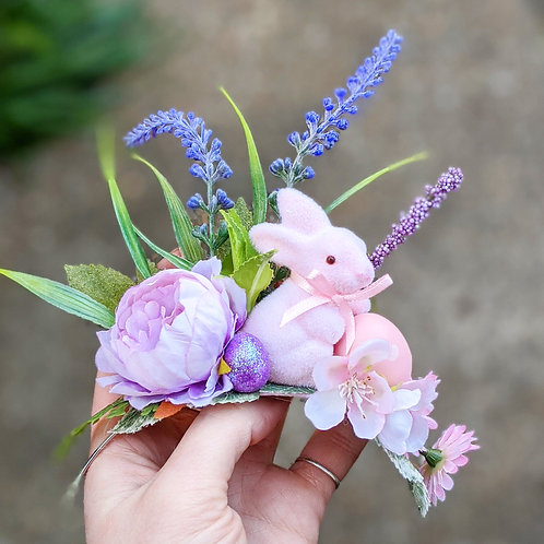 Pink Bunny Crown / Hair Flower