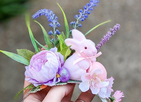Pink Bunny Crown / Hair Flower