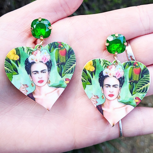 Frida Heart Earrings