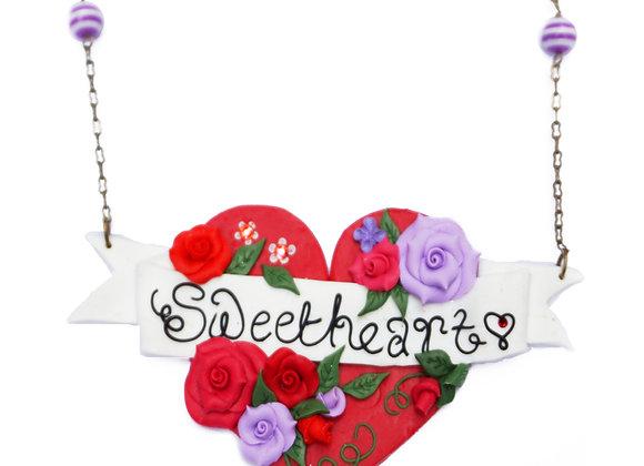 Sweetheart Tattoo Art Heart Necklace