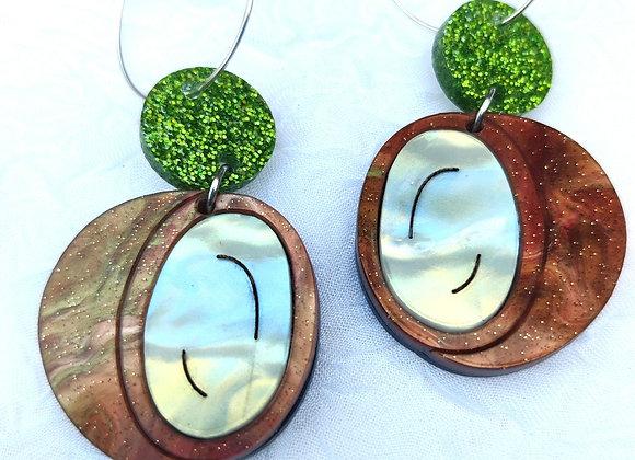 Coconut hoop earrings