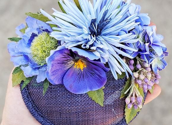 Blue Floral Fascinator