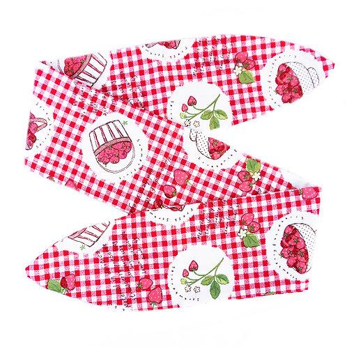 Strawberries Gingham Head Scarf