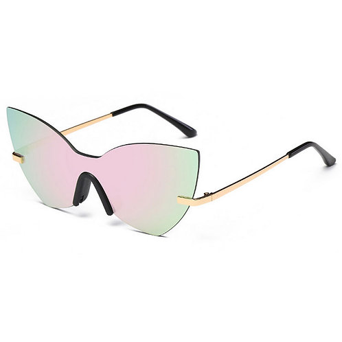 Mirrored Retro Frame Sunglasses With Case