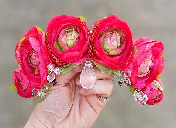 Romantic Tiara Style Hair Flower