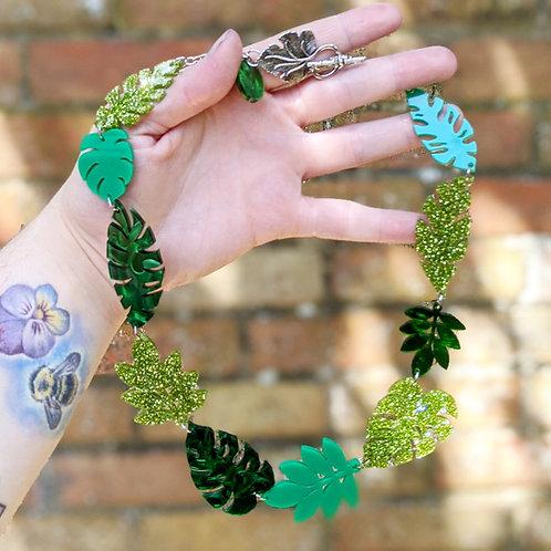 Large Tropical Leaf Necklace