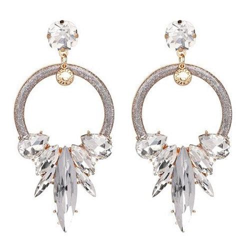 Glitter & Gems Hoop Earrings