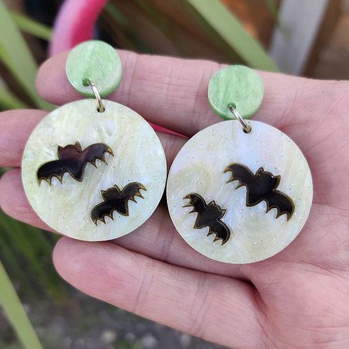 Moon Bat Earrings