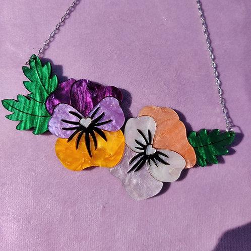 Viola Peach Necklace