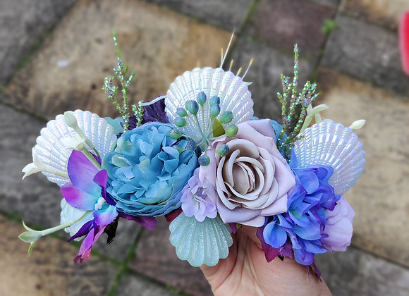 Large shell flower crown