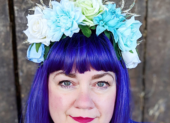 Blue & Green Flower Crown
