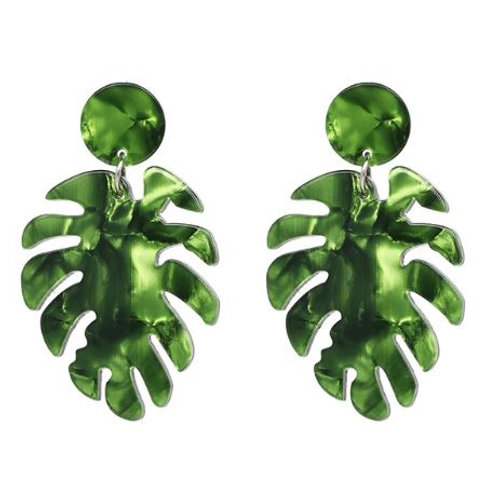 Pearlised Leaf Earrings