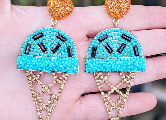 Beaded Ice Cream Earrings