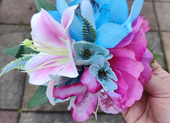 Blue orchids flower clip