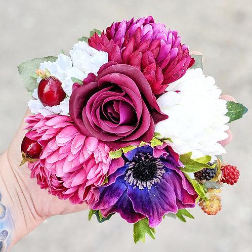 White & Pink Hair Flower