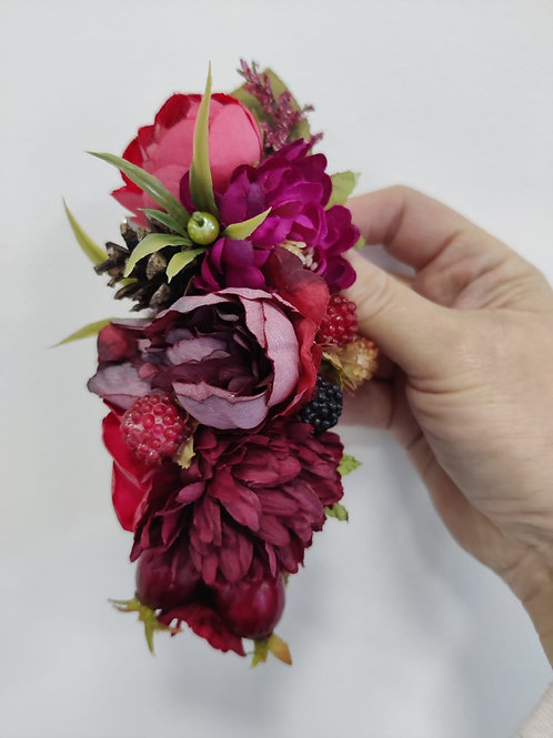 Pinecone & Berry Hair Clip
