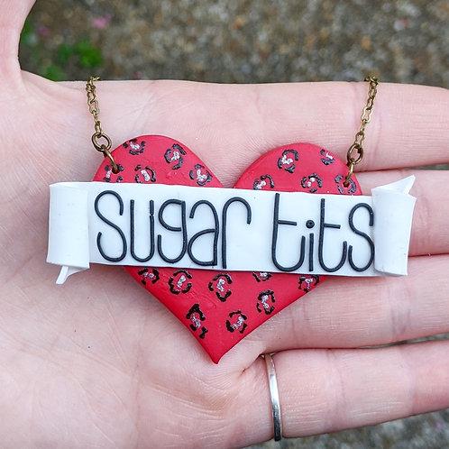 Leopard Print Sugar Tits Necklace