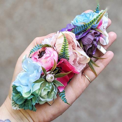 Pink, Blue & Purple Hair Flower