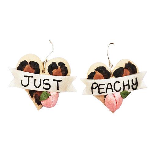 Leopard Print Heart Earrings - 3 Options