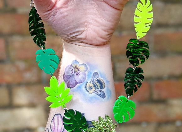 Tropical Leaf Necklace