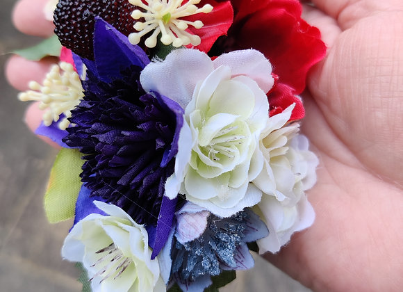 Red, white, blue and strawberry hair clip