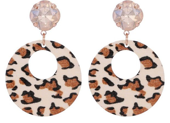 Animal Print Hoop Earrings