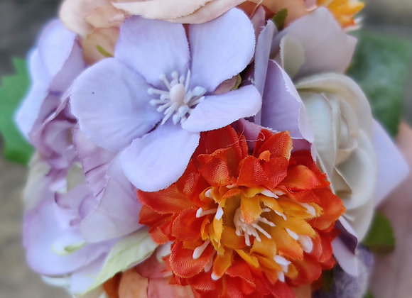 Orange and lavender hairflower