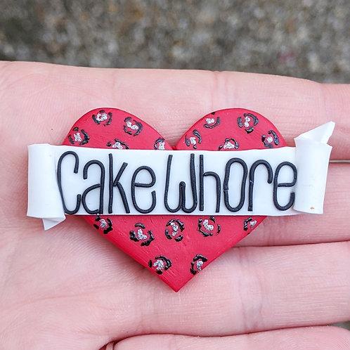 Leopard Print Cake Whore Brooch