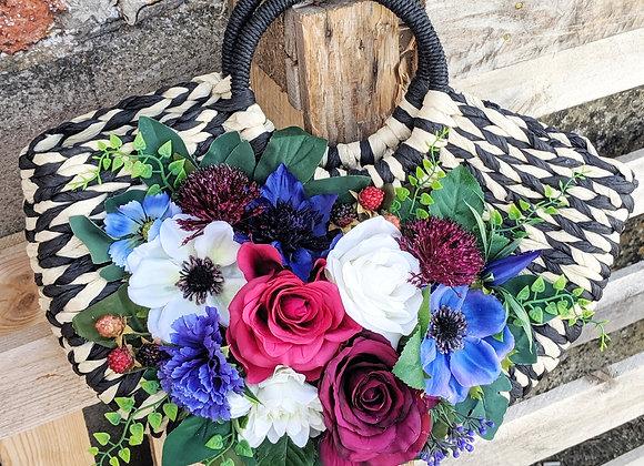 Pink, Blue & White Floral Bag