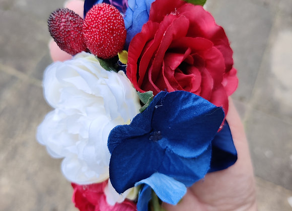 Red rose and strawberry hair flower
