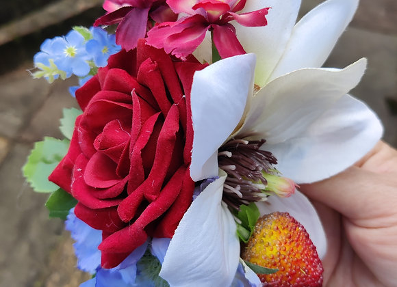 Forget me not strawberry hair flower