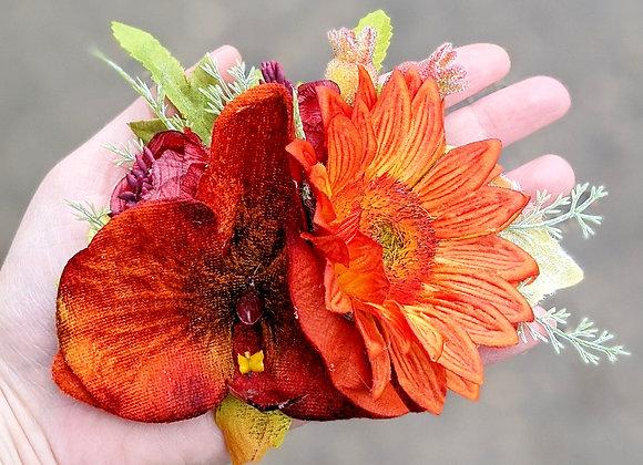 Orange & Red Hair Flower