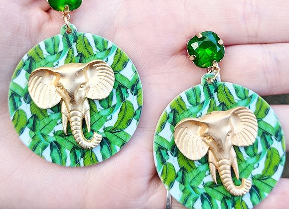 Tropical Elephant Earrings