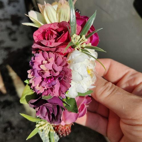 Small Blackberry & Vanilla Hair Flower