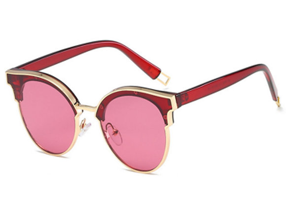 Retro Gold Frame Sunglasses With Case