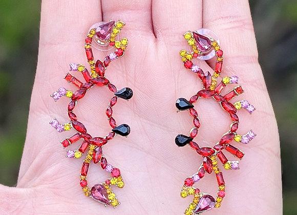Gem Crab Earrings