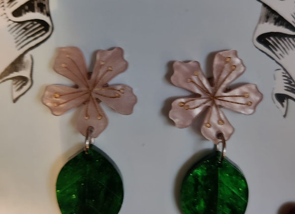 Pale Pink Cherry Blossom Earrings