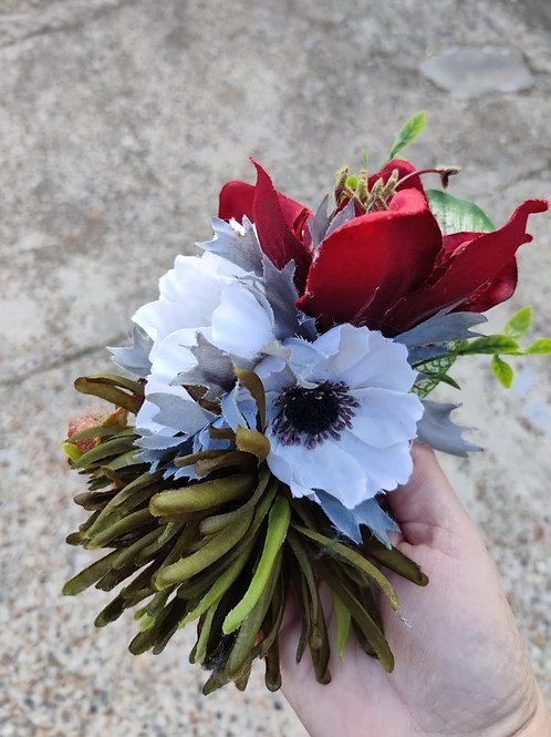 Deep Red Amaryllis Hair Flower