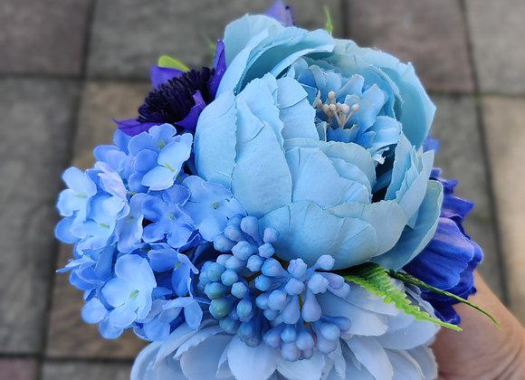 Large blue hair flower