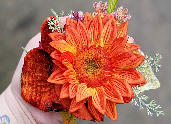 Orange & Red Hair Flower