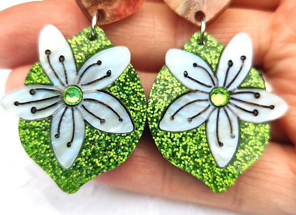Chocolate lime earrings