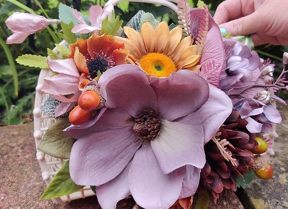 Brown & Beige Floral Jelly Bag