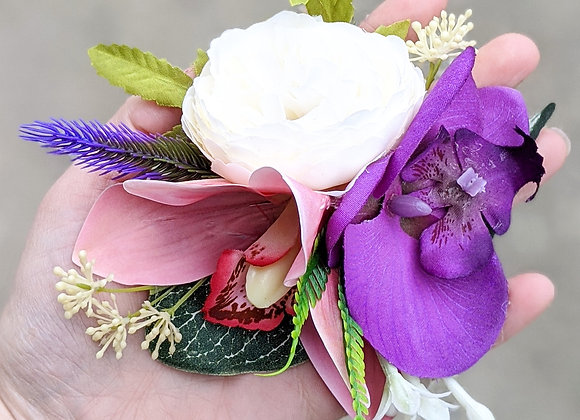 Purple, Pink & White Hair Flower