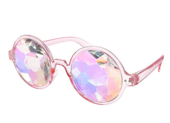 Retro Kaleidoscope Sunglasses With Case